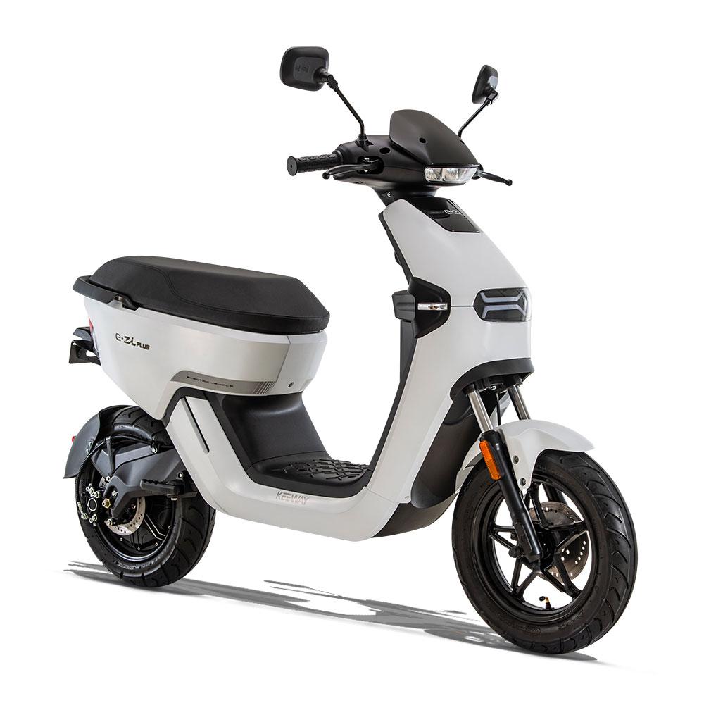 scooter électrique Keeway e-zi plus-blanc promotion